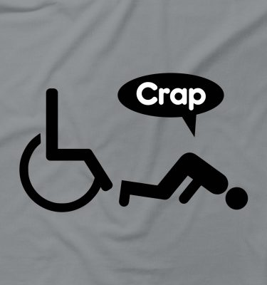 Fallen Out Of Wheelchair Crap Rude Offensive Funny