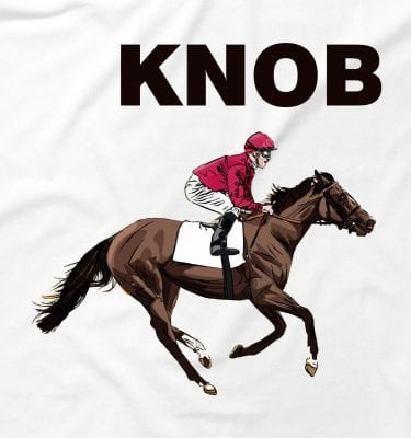Knob Jockey Funny Offensive Swear Humour Dad
