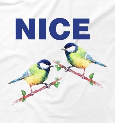 Nice Tits Blue Bird Offensive Joke Funny Humour Dad