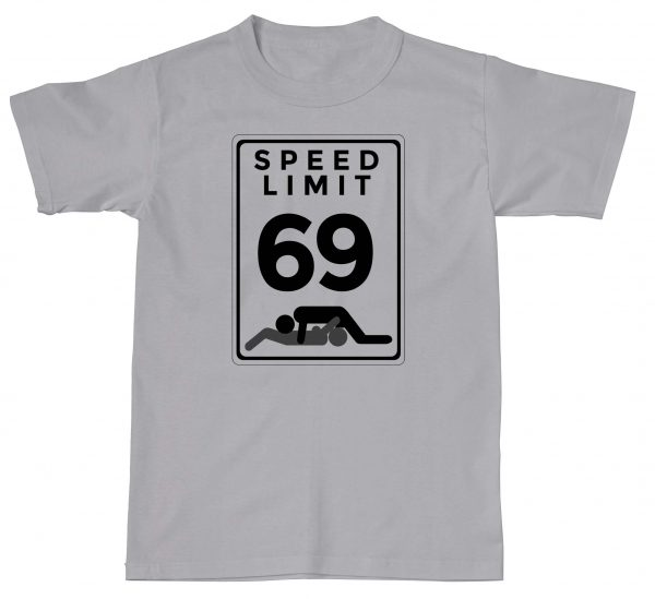 Speed Limit Dirty Rude 69 Funny Cartoon