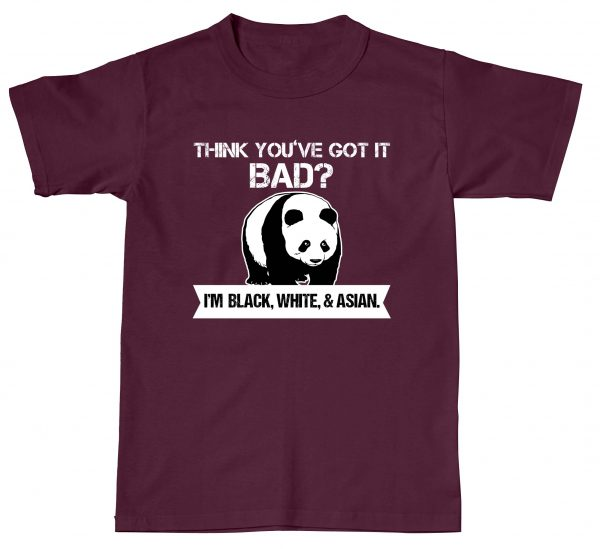 Panda Think You've Got it Bad Black White Asian